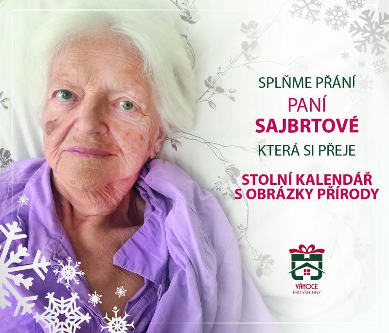 paní Sajbrtová